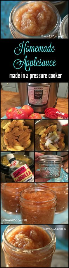 Homemade Pressure Cooker Applesauce Recipe - iSaveA2Z.com