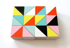 Hand Painted Wood Block Magnets