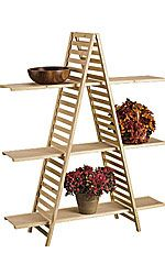 Store Supply Warehouse offers the lowest prices and most elegant wooden shelf displays. Our wooden shelf displays are in stock and have same day shipping! Wood Display, Frame Display, Display Shelves, Display Ideas, Shutter Shelf, Craft Fair Table, Organizar Closet, Stand Feria, Craft Fair Displays