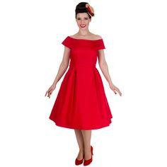 Red Vintage Dress Front Far
