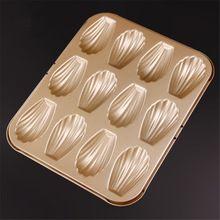 Yüksek kalite 12 fincan kabuk şekilli metal pişirme pan, noel partisi mutfak bakeware madeleine çerez pan, yapışmaz deniz Kabuk kalıp(China (Mainland))