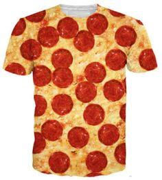 New Summer Short Sleeve Shirt Casual Pizza Food Printed T-Shirt Women/Men Clothing Tops S-5XL