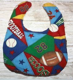 Baby Bib-Football Baby Bib All Star Baby Bib Boy by AddiesThings
