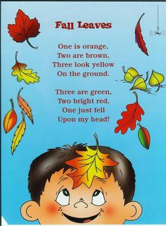 Education - Fall poetry for kids - Grab these 9 poetry ideas to teaching reading this autumn season. Preschool Poems, Kids Poems, Fall Preschool, Preschool Classroom, Preschool Activities, Poetry Activities, Songs For Kids, Kindergarten Poems, Harvest Poems