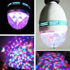 (1) Amazon.com: DUSIEC Mini RGB Full Color Rotating LED Lamp Stage Light Torch 3W with E27 Base For Disco DJ Stage Party KTV Bars Club: Home Improvement on Wanelo