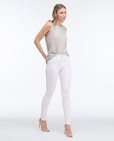 The Farrah Skinny in white