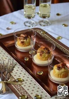 bouchées de foie gras et sauce Sauternes