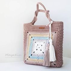 Crochet Patterns Bag Image interface for crochet bag mother heat Crotchet Bags, Bag Crochet, Crochet Shell Stitch, Crochet Handbags, Crochet Purses, Knitted Bags, Filet Crochet, Crochet Crafts, Crochet Clothes