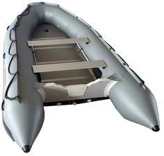 New Saturn SD430 Inflatable Boat in Dark Gray.