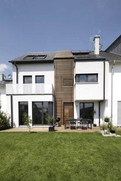 gartenansicht mit holzfuge minimalistische huser von in_design architektur - Wintergarten Entwirft Plne