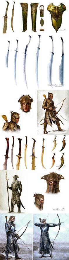 Tolkien, The Hobbit Fantasy Armor, Fantasy Weapons, Medieval Fantasy, Elves Fantasy, Anime Weapons, Tolkien, Fantasy Inspiration, Character Inspiration, Character Art
