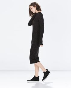 Image 3 of ASYMMETRIC KNITTED DRESS from Zara