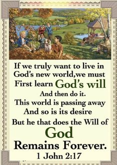 Life In Paradise, 1 John 2, Bible Truth, Passed Away, Jehovah, Scriptures, Blessed, God, Dios