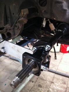 60 Bug Rene Achtekant aangepast met verstelbare veerplaten en Volksprojects dropped extensions.