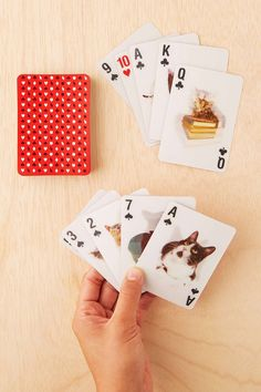 A deck of cards covered in 3D cats. | 31 Ridiculously Awesome And Inexpensive Things To Ask For This Year