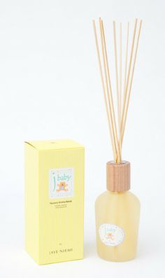 Aroma Reeds - J Baby Nursery  http://www.shopjayeniemi.com/collections/aroma-reeds/products/aroma-reeds-j-baby