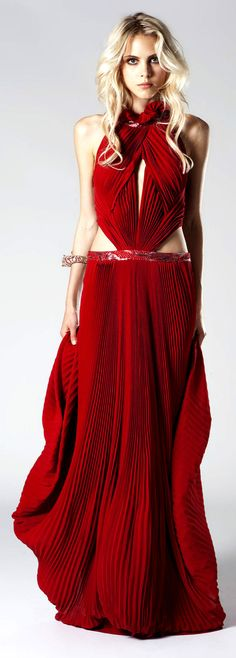 summer outfits womens fashion clothes style apparel clothing closet ideas Roberto Cavalli long maxi red dress evening