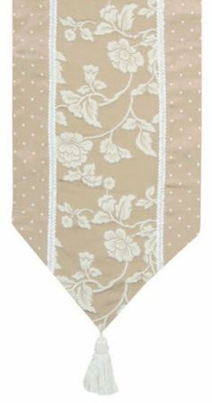 Jennifer Taylor 2608-205206 Table Runner, 16-Inch by 120-Inch, Cover 45-Percent Polyster and 55-Percent Cotton by Jennifer Taylor. $129.21. With braid and tassels. Home decor brings classic style and luxurious comfort to the home. Table runner cover 45-percent polyster and 55-percent cotton. Jennifer Taylor Table Runner, 16-inch by 120-inch, Cover 45-percent polyster and 55-percent Cotton, with braid and tassels, Classic Style