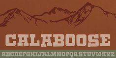Calaboose font