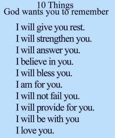 God Wants Us To Remember
