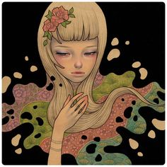 """Lost in Thought"" new work from Audrey Kawasaki."