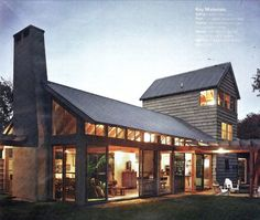 Modern post-and-beam barn home, with a little feed store thrown in for good…