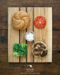 State sandwiches! great project & recipes... just waiting for the lobstah roll to show up for Maine!  maryland-thumb.jpg