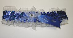 Cobalt Blue Hologram Sequin Prom Garter - 2014 Prom Garters