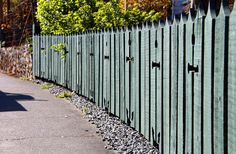 cutouts in fence - Google Search Fence, Sidewalk, Outdoor Structures, Google Search, Beautiful, Walkways, Pavement