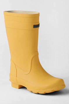 I love the classic styling of these rain boots from Lands' End. My daughter has a pair, and they are great. Toddler style are already on sale ($18).