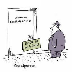 Chiropractic funny cartoons from CartoonStock directory - the world's largest on-line collection of cartoons and comics. Chiropractic Humor, Chiropractic Therapy, Family Chiropractic, Chiropractic Assistant, Chiropractic Office, Chiropractic Treatment, Cartoon Jokes, Funny Cartoons, Funny Jokes