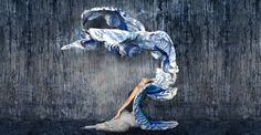 【Shovava】 scarf blue wings