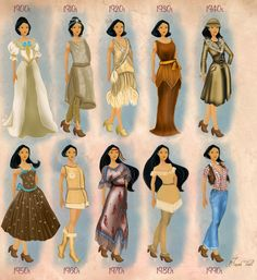 pocahontas in 20th century fashion #pocahontas #disneyprincess #disney