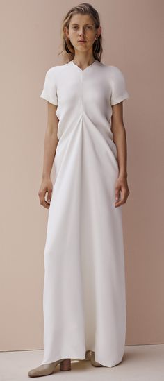Vestido longo branco! Que corte, que caimento!  Céline Pre-Fall 15