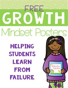 Free growth mindset posters to help you talk about the importance of failure with your students. Social Emotional Learning, Social Skills, Character Education, Values Education, Gifted Education, Education English, Education Quotes, Special Education, Classroom Management