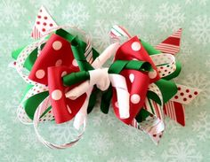 Holiday Boutique style, layered hair bow. $10.00, via Etsy.
