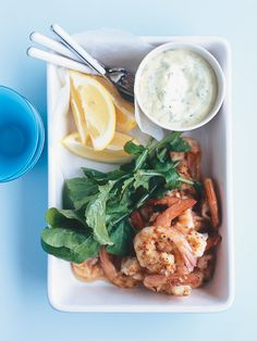 Spicy prawns w/wasabi and coriander mayonnaise~great first course for entertaining!