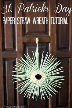 St. Patrick's Day Wreath Tutorial by Designer Trapped in a Lawyer's Body {www.designertrapped.com}