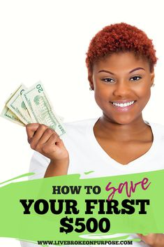 African American girl with short curly hair holding up money and smiling. Budgeting Finances, Budgeting Tips, Best Money Saving Tips, Saving Money, Debt Snowball, Paying Off Credit Cards, Money Plan, Money Saving Challenge, Saving For Retirement