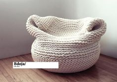 """Bdoja"" hand knitted lounge chair"