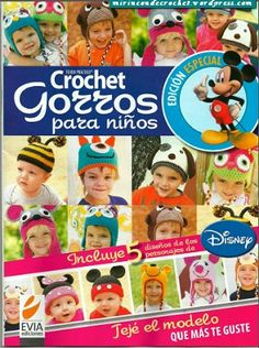 Home Kids Crochet Caps Crochet Gratis, Crochet Cap, Crochet Bunny, Love Crochet, Crochet Dolls Free Patterns, Crochet Kids Hats, Crochet Books, Crocheted Hats, Magazine Crafts
