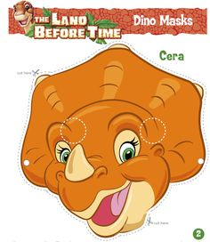 The Land Before Time Fan Page (The Land Before Time) - Masks of Littlefoot and his friends Dinasour Party, Dinasour Birthday, Dinosaur Birthday Party, 3rd Birthday Parties, Birthday Fun, Dinosaur Party Supplies, Land Before Time, Kid Picks, Dinosaur Nursery