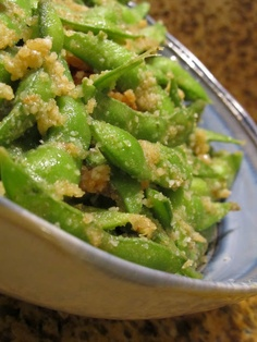 Parmesan Garlic Edamame, made these tonight, but forgot the bread crumbs and added extra parm, super good!!