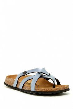 Birkenstock Vinja Crisscross Straps Sandal // Grey strappy slip on sandals