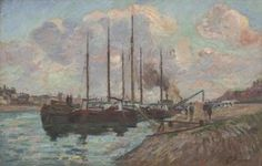 "Armand Guillaumin (French, 1841-1927), ""The Quai d'Austerlitz,"" about 1877; Gift of Elaine Ewing Fess and Stephen W. Fess, 2008.374; © Artists Rights Society (ARS)"