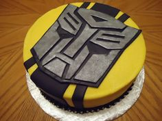 Transformers Bumblebee Cake - Buttercream with fondant accents