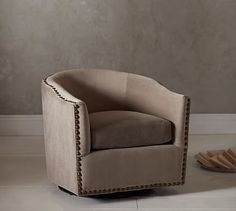 EOS FLOATING BARREL CHAIR - Transitional Mid-Century / Modern Swivel ...