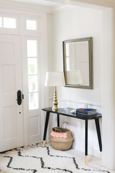 """entry way """"dipped"""" table legs (use Target desk)"""