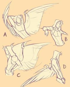 you can still buy an YCH couple poses at my DA (link in the bio) ♡  #wings #poses #sketch #art