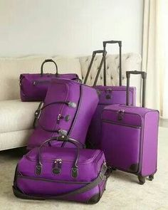 purple luggage, who'se buying it for me?